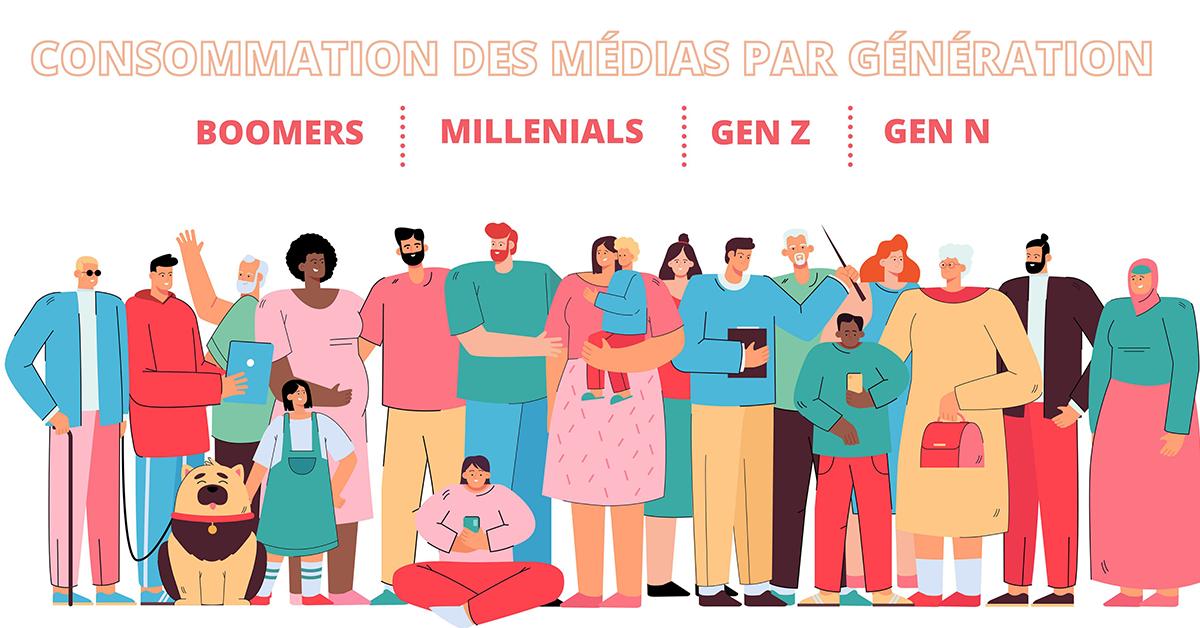 La consommation des médias par génération